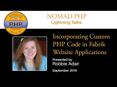 Incorporating Custom PHP Code in Fabrik Website Applications