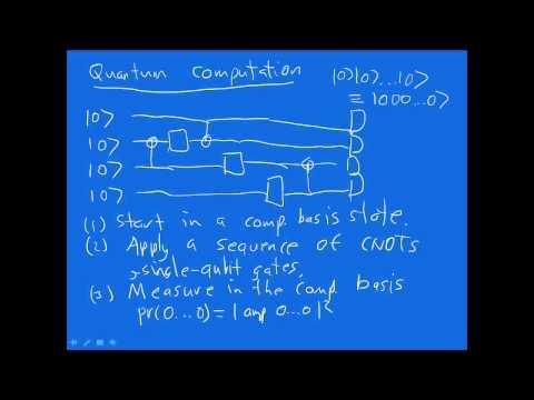 Universal quantum computation