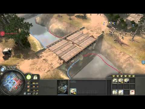 Company of Heroes - Allied (America) Infantry Company Gameplay VS Expert A.I.