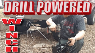 Drill powered Winch build