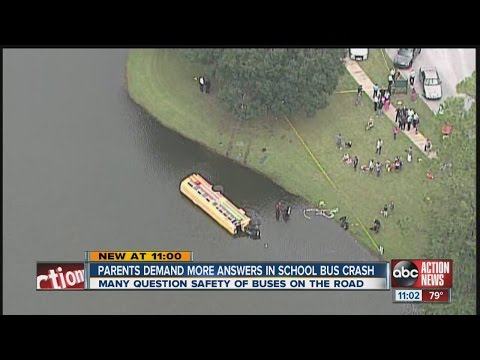 Parents want more information on bus crash into Odessa pond