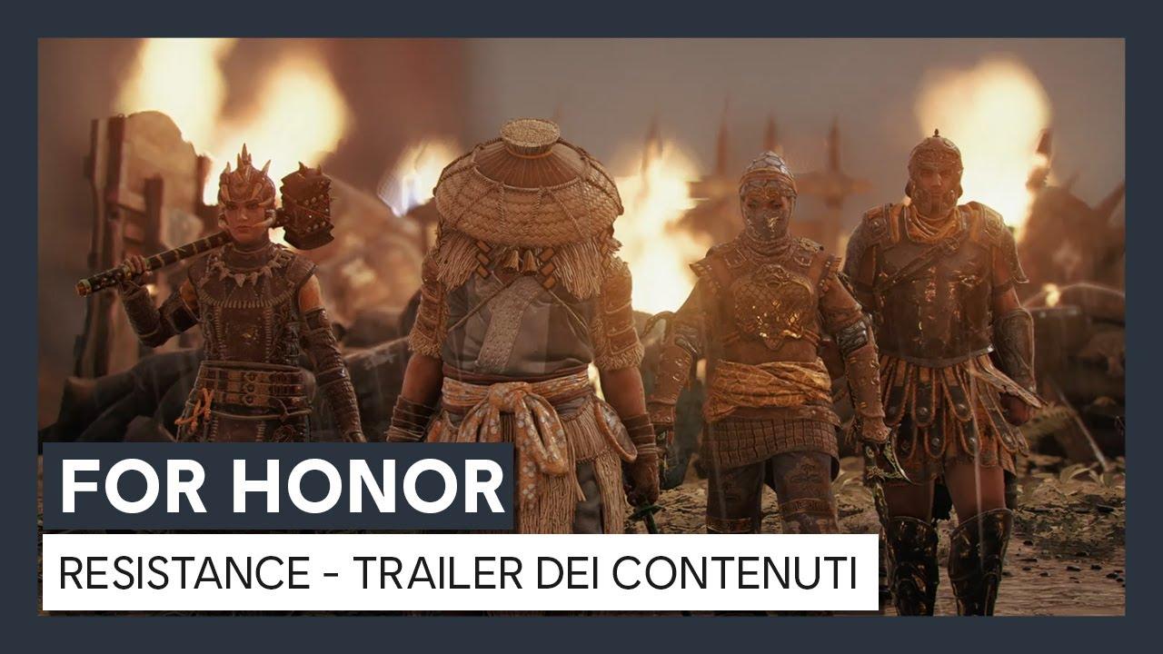 For Honor - Y4S3 Resistance Trailer dei Contenuti