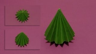 How To Make An Origami 3d Tree