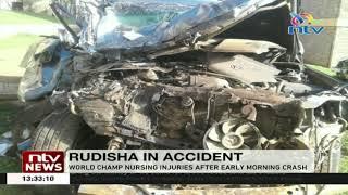 World champ Rudisha nursing injuries after an accident along Kisii-Keroka highway