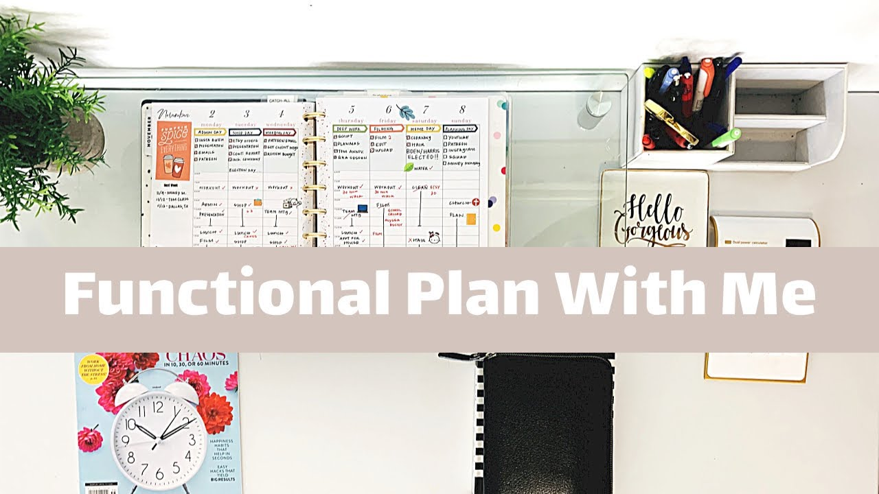 Functional Plan With Me Weekly