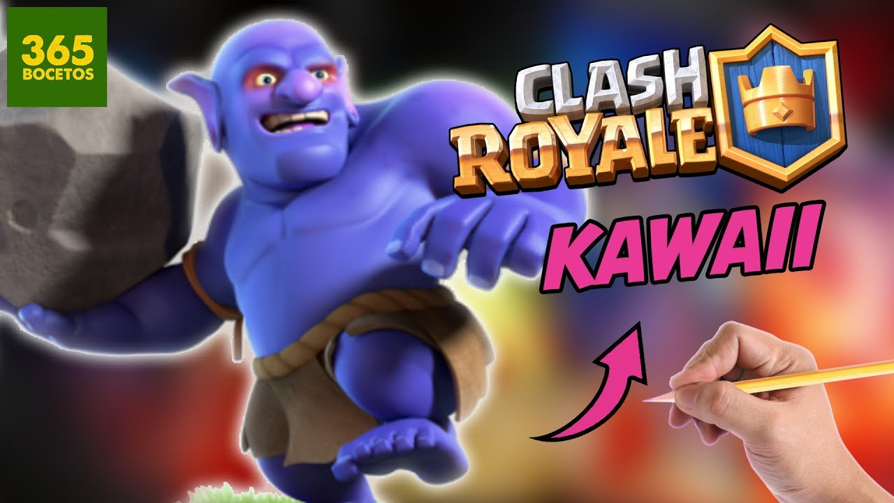 Como Dibujar A Lanzarrocas De Clash Royale Estilo Kawaii Youtube