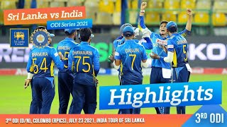 Download 3rd ODI Highlights   Sri Lanka vs India 2021