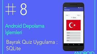 Android Bayrak Quiz Uygulaması SQLite