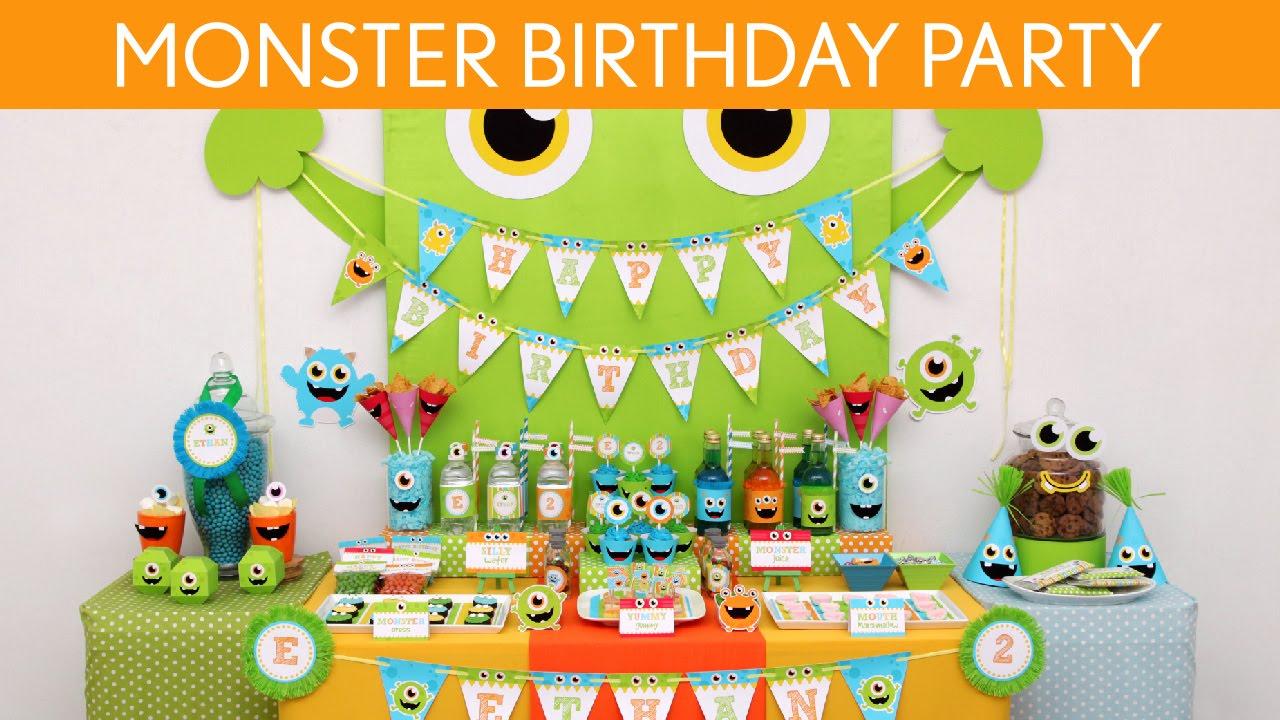 Little Monster Birthday Party Ideas Little Monster B106 Youtube