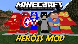 Minecraft PE: NOVO INCRÍVEL MOD DE SUPER HERÓIS PARA O MINECRAFT PE 1.2!   PROJECT SUPER HUMAN MOD!