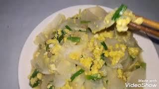 cách làm món củ cải trắng xào trứng đơn giản mà lại ngon
