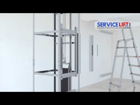 & Service Lift Co - 3D Dumbwaiter Installation - YouTube