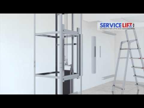 Service Lift Co  3D Dumbwaiter Installation  YouTube