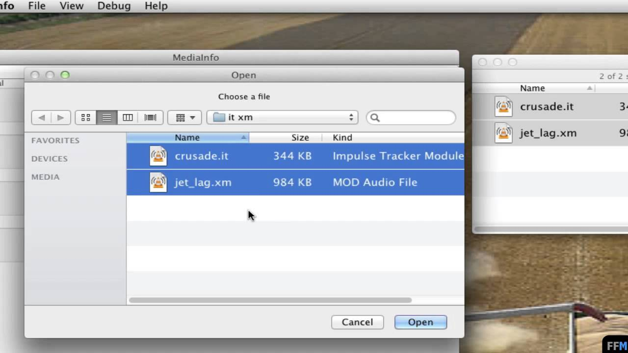 Detect BPM of  IT and  XM Free on Mac