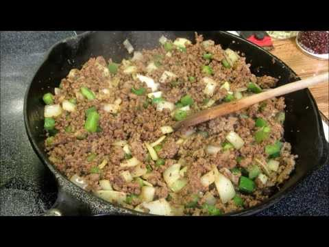 How to make a Burrito: Beef and Bean Burritos