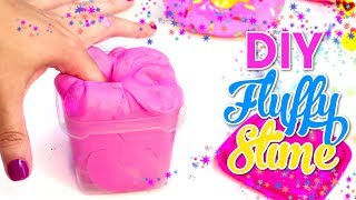 DIY FLUFFY SLIME Without borax! How To Make The BEST Slime! Isa's World
