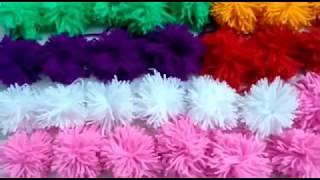 woolen flower | How to make woolen flower | wool design making
