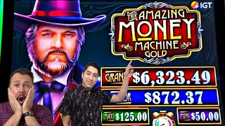 Playing NEW SLOTS at San Manuel CASINO! The Amazing MONEY Machine What CAN The ? be IN the BONUS?