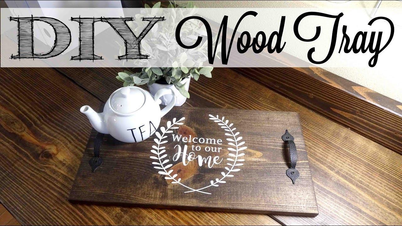 Diy Easy Wood Tray