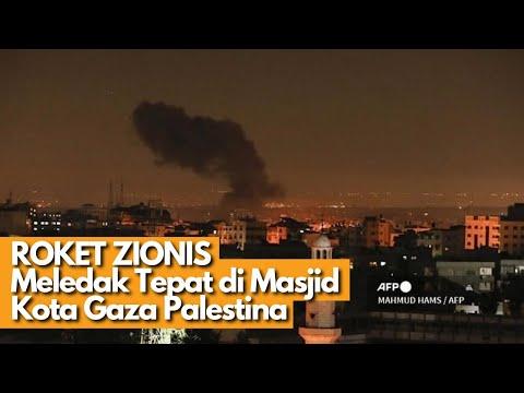 TERBARU! ROKET ISRAEL JATUH DI MASJID DAN PEMUKIMAN PALESTINA