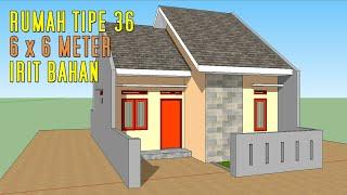 desain rumah minimalis ukuran 6x7 meter