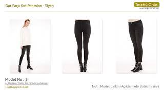 Siyah Dar Paça Kot Pantolon Tesettür Pantolon Modelleri