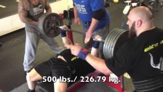 Jason Lawson - Benching 500 lbs. Raw