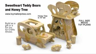 Wood Toy Plans - Scroll Saw - Teddy Bears & Honey Tree Play Set