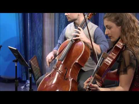 Dover Quartet plays Mozart's Quartet in F Major, K  590  4th mvt