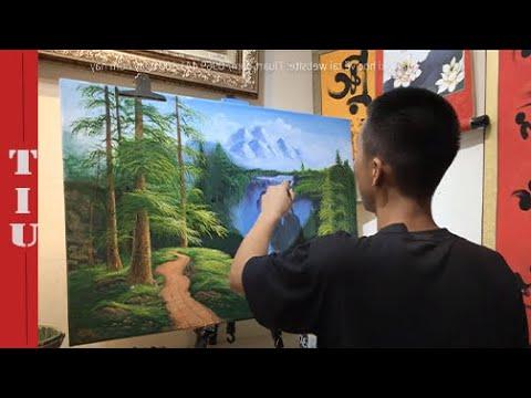 Vẽ Tranh Phong Cảnh I Học Viên Sáng I TiuArt