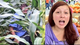 Fat Guy Poops In The Corn Maze!