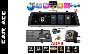 Phisung V6 10 in Car DVR Camera Rearview Mirror Android 3G WiFi GPS Nav Dash Cam