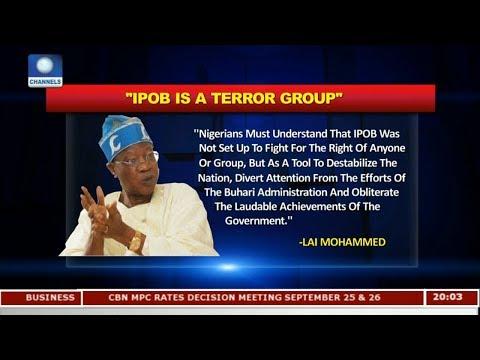 IPOB Sponsors Are Treasury Looters - FG |Politics Today|