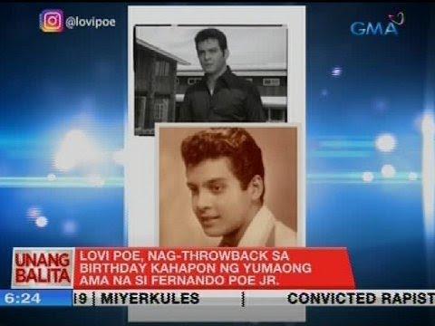 UB: Lovi Poe, nag-throwback sa birthday kahapon ng yumaong ama na si Fernando Poe Jr.
