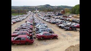 Кладбище автомобилей в США. Самые  дешевые запчасти