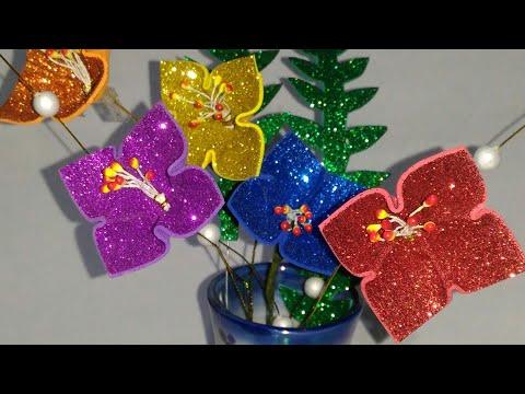 Small Flowers from Glitter Foam Sheet!