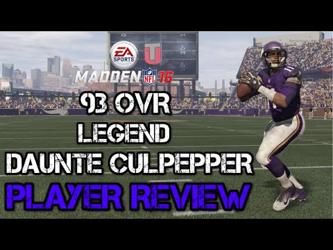 93 OVR Legend Daunte Culpepper | Player Review | Madden 16 Ultimate Team Gameplay | MUT 16