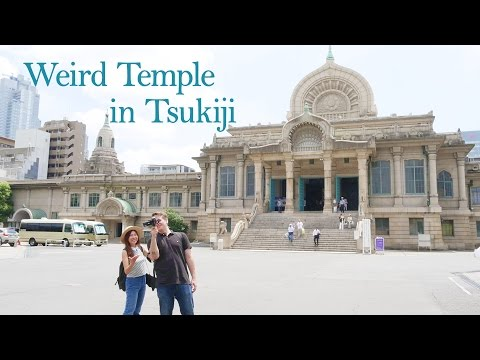 I'D NEVER SEEN A TEMPLE LIKE THIS IN JAPAN  - Honganji Temple, Tsukiji ft internationally me