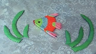 How To Make A Beautiful Fish 3d Origami (in The Technique Of Modular Origami) For Beginners