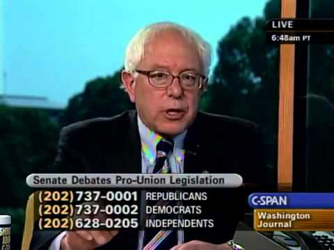 Interview with Bernie Sanders on Labor Unions (6/21/2007)