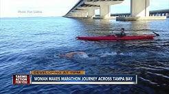 Marathon swimmer completes 24 mile swim across Tampa Bay