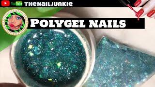 Polygel Tutorial |Glitter polygel |Azure