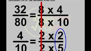 Fractions - Reducing Fractions To Lowest Terms