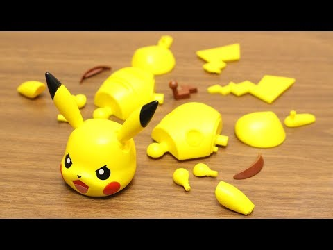 POKEMON STOP MOTION PIKACHU PLASTIC MODEL #pokemon #stopmotion #pikachu