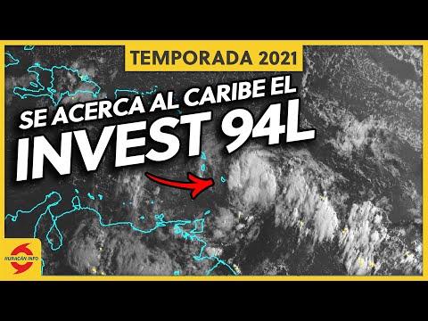 Invest 94L llega al Caribe este martes. Afectará a Puerto Rico y República Dominicana.