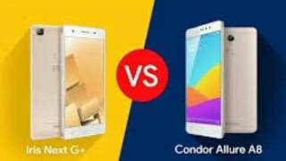 مقارنة بين هاتف +condor allure a8 vs iris next g