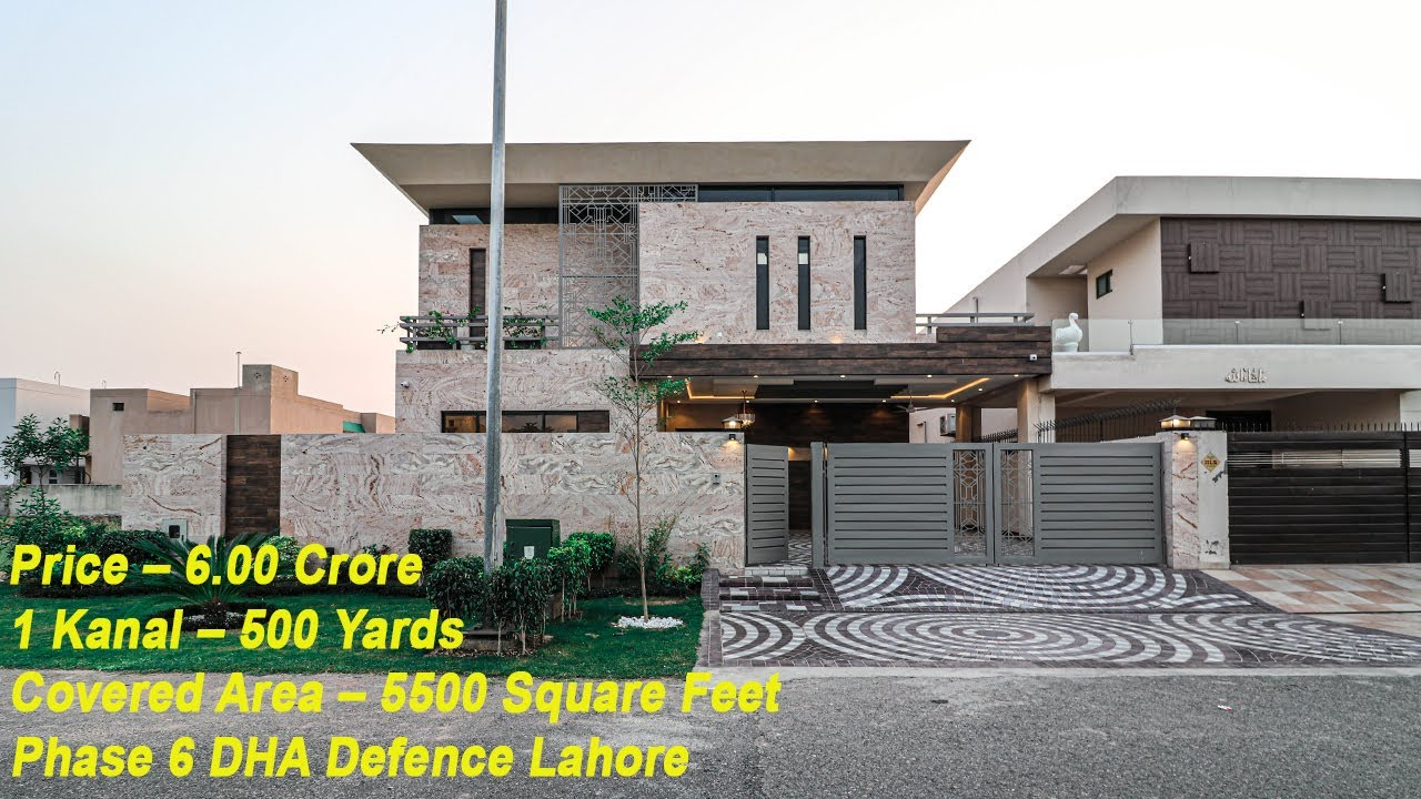 1 KANAL HOUSE | ULTIMATE DESIGN |PRIME LOCATION | PHASE 6 DHA LAHORE | PRICE 6.00 CRORE | H No 22