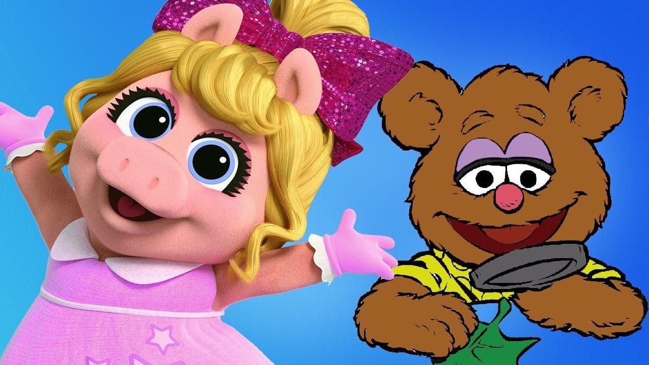 Muppet Babies Fozzie Bear Gonzo Miss Piggy Disney Junior Coloring Pages Kids Games