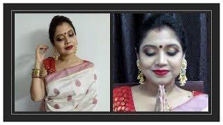 Ashtami look||Durga puja & Navratri 2018||Bengali Makeup||The Beautiful Us