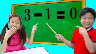 학교 시험을 위해 수학과 숫자를 배우는 웬디, 알렉스 그리고 린든 | 재미있는 어린이 비디오